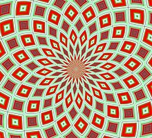 Red And Green Hallucinogenic Kaleidoscope by taiche
