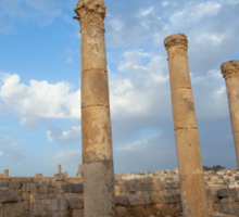 City greco-roman of Jerash Sticker