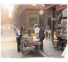 Clam seller on Mulberry Bend, New York, ca 1900 Poster