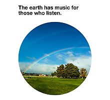 The earth has music for those who listen (2) by toughandtender