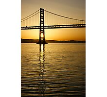Framing the Sunrise at San Francisco's Bay Bridge in California Photographic Print