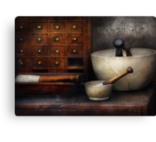 Apothecary - Pestle & Drawers Canvas Print