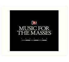 Depeche Mode : Music For The Masses Logo 3 White Art Print