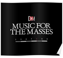 Depeche Mode : Music For The Masses Logo 3 White Poster