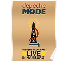 Depeche Mode : Live Hambourg With Title Poster