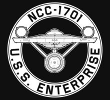 USS Enterprise Logo - Star Trek - NCC-1701 (TOS) by James Ferguson - Darkinc1