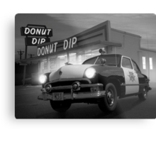 Cops Shoot Unarmed Donut Metal Print