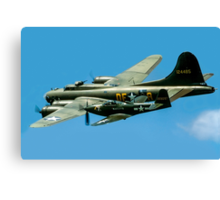 P-63A Kingcobra with B-17G Fortress II Canvas Print