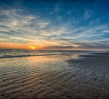 South Padre sunrise over the beach by Tod and Cynthia Grubbs