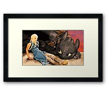 How to Train Your Targaryen Dragon Framed Print
