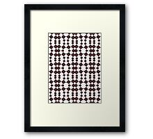 Brown & White Geometric Abstract Design Pattern Framed Print