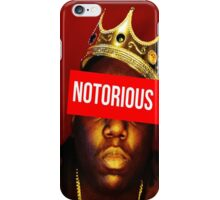 "Biggie ""Notorious King"" Supreme  iPhone Case/Skin"