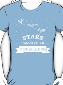 The Fault in Our Stars - My Thoughts are Stars T-Shirt