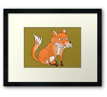 Cartoon Fox Framed Print