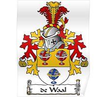 de Waal Coat of Arms (Dutch) Poster