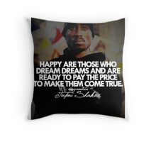 "2Pac ""Happy Are Those..."" Tumblr Quote shirt Throw Pillow"