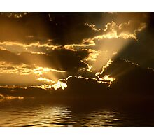 Sunbeams over Water Photographic Print