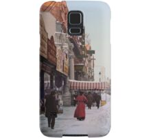 Piles of snow on Broadway, after storm, New York, ca 1905 Colorized Samsung Galaxy Case/Skin