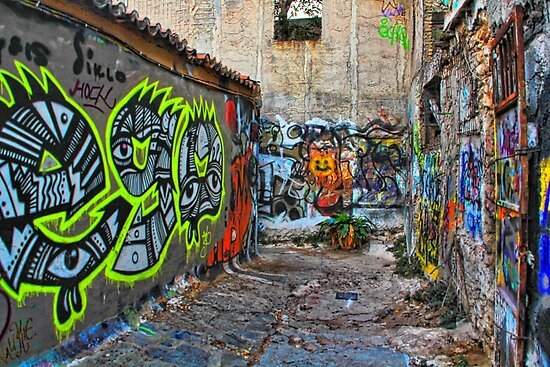 Athens Alley by Barbara  Brown