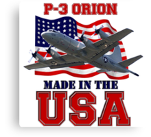 P-3 Orion Made in the USA Canvas Print
