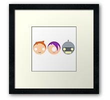 Planet Express Crew (Futurama) - Circley! Framed Print