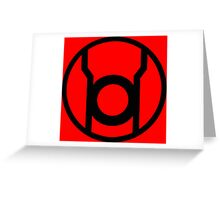 Red Lantern Corps Symbol - Reversed Greeting Card