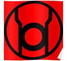 Red Lantern Corps Symbol - Reversed Poster