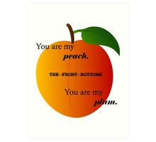 Peach- The Front Bottoms Art Print