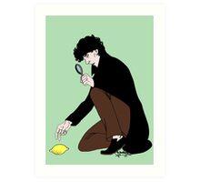 Guess Who Found the Lemon?! Art Print