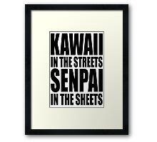 Kawaii in the Streets Framed Print