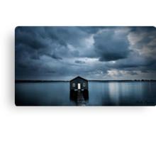 A Little Blue Boatshed Canvas Print