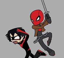 Red Hood Hunts Nightwing by peter531