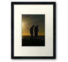 Fishermen at dawn. Currumbin Alley, Gold Coast. Framed Print