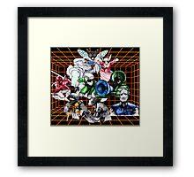 Kid Chameleon Grid Framed Print
