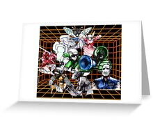 Kid Chameleon Grid Greeting Card