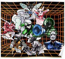 Kid Chameleon Grid Poster