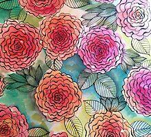 floral doodles by kre80vtee