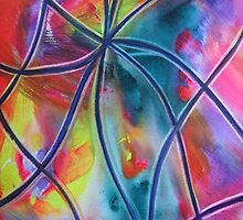 Faux -Stained Glass 1 by ksgfineart