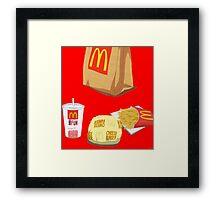 Mcdonalds Dollar Menu Framed Print