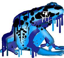 poison dart frog by midgetsheep