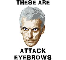 Doctor Who 12 Peter Capaldi - Attack Eyebrows Photographic Print