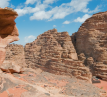Landscape of Wadi Rum Sticker