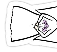 3 flower angels Sticker