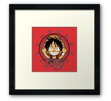 ONE PIECE: Monkey D Luffy Chibi Framed Print