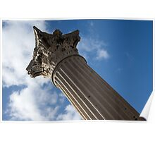 The Grandeur of Pompeii - a Corinthian Capital Column in the Sky Poster