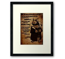 Bane's Cat Rises! Framed Print