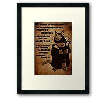 Bane's Cat Rises! Framed Print