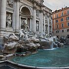 Rome's Fabulous Fountains - Trevi Fountain, No Tourists by Georgia Mizuleva