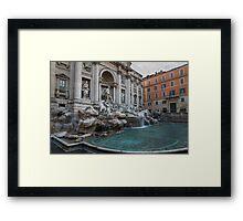 Rome's Fabulous Fountains - Trevi Fountain, No Tourists Framed Print