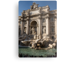 Toss a Coin to Return - Trevi Fountain, Rome, Italy Metal Print